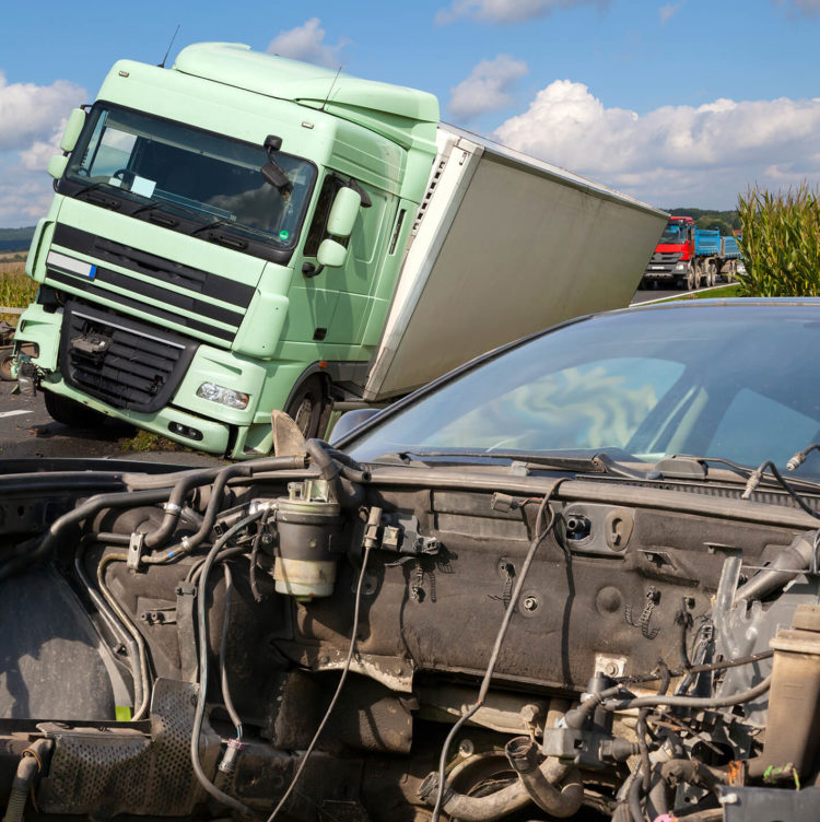 car vs truck accident de lachica law firm